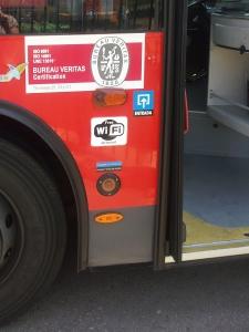 Identificación exterior bus TUZSA con WIFI