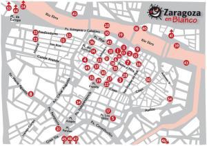 Mapa actividades Zaragoza en Blanco 2012