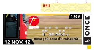 Boceto Cupón Once TUZSA 12/11/2012